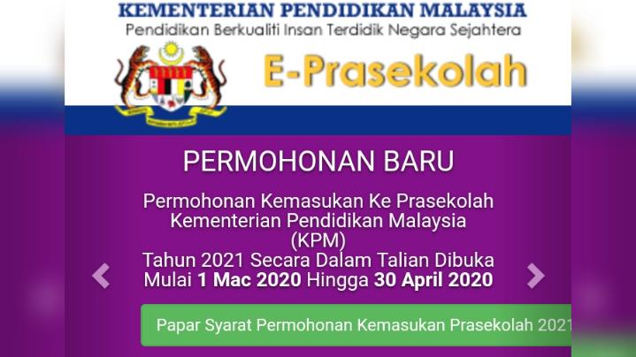 Pendaftaran Prasekolah 2021 Akan Dibuka 1 Mac 2020 Ini Cara Daftar Online