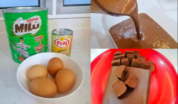 Cara Buat Kek Milo Kukus Guna 3 Bahan Tak Sampai Sejam Dah Siap