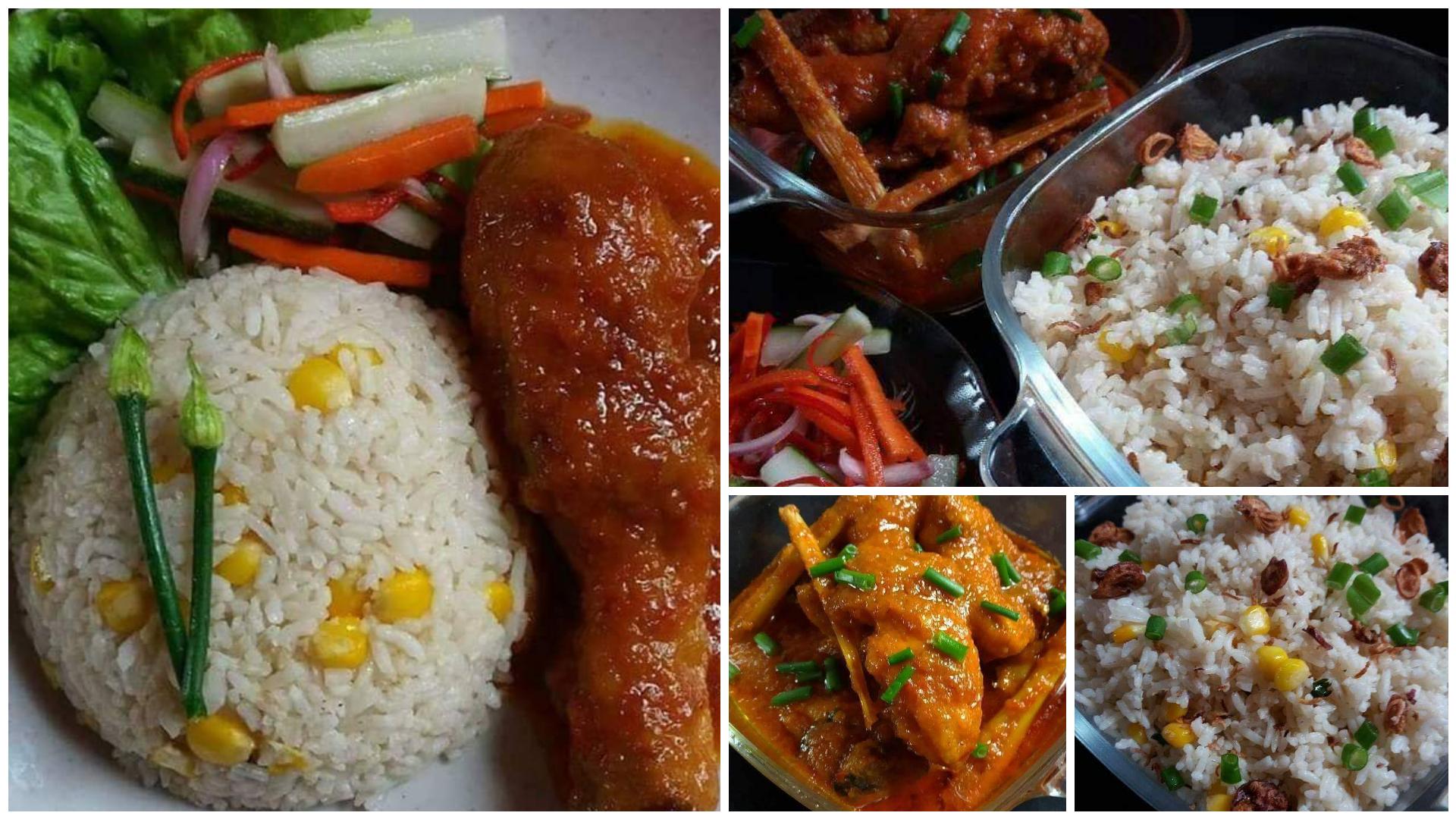 Resepi nasi jagung simple