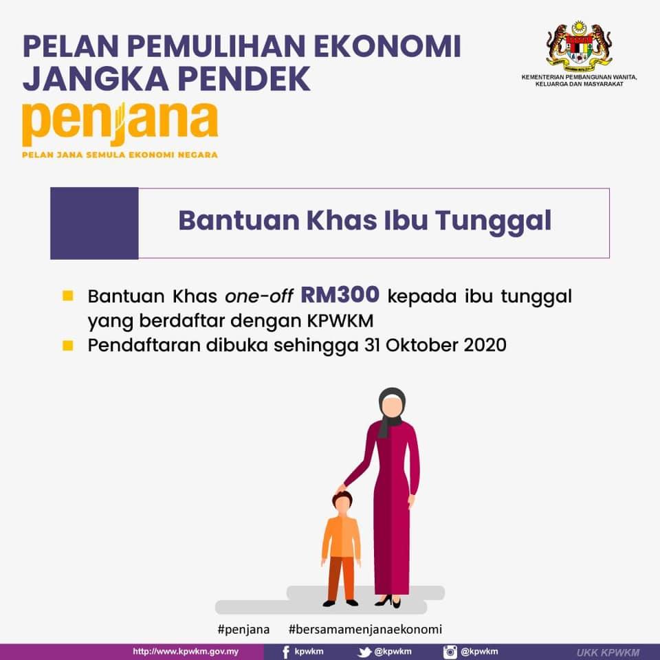 Cara Daftar Permohonan Bantuan Khas Ibu Tunggal Bkit Rm300 Secara One Off