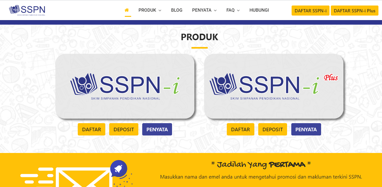 Cara buka akaun sspn online