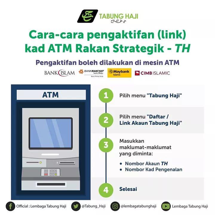 Cara Semak Baki Keluarkan Duit Tabung Haji Di Mesin Atm Maybank Cimb Bank Rakyat Bank Islam