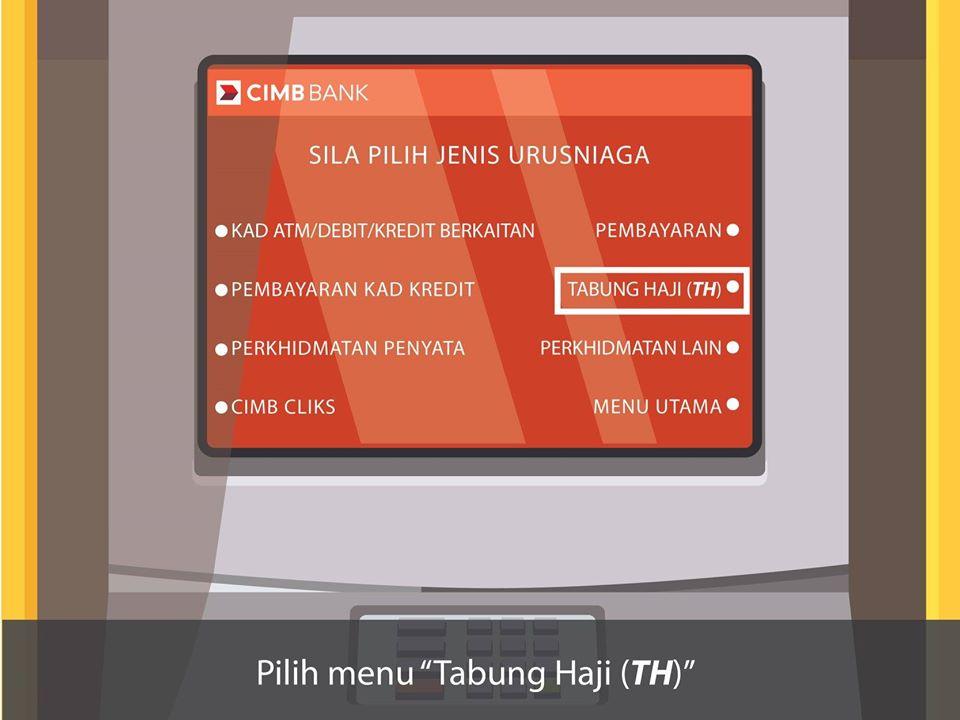 Cara Semak Baki & Keluarkan Duit Tabung Haji Di Mesin ATM ...