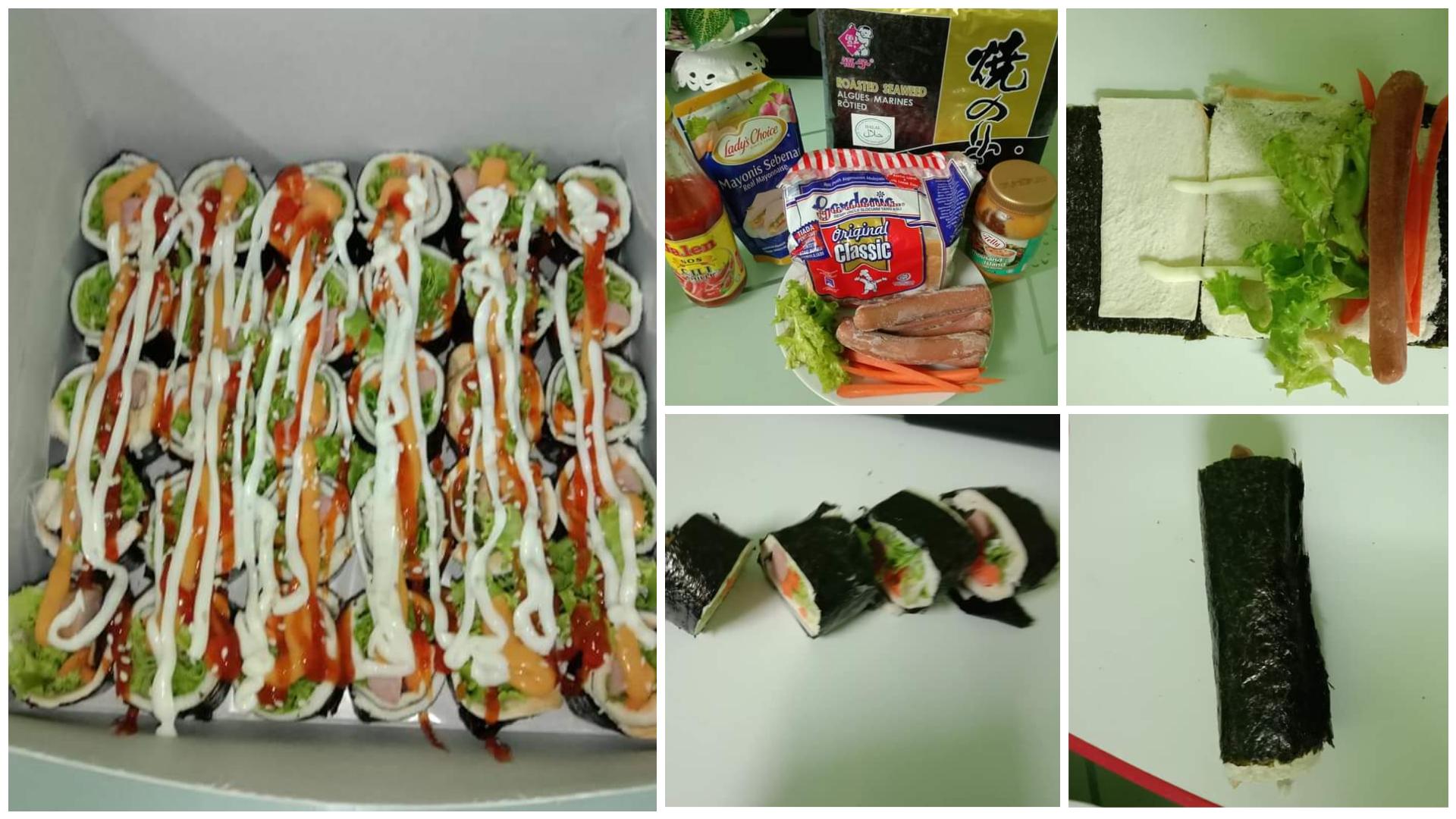 resepi sushi sandwich sushi