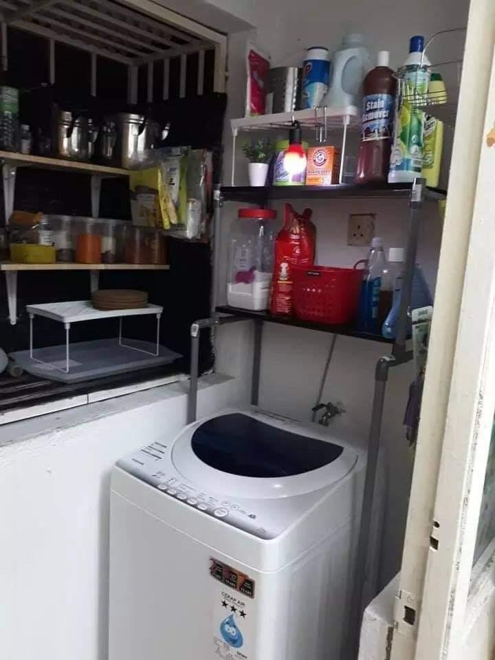 Diy rak mesin basuh