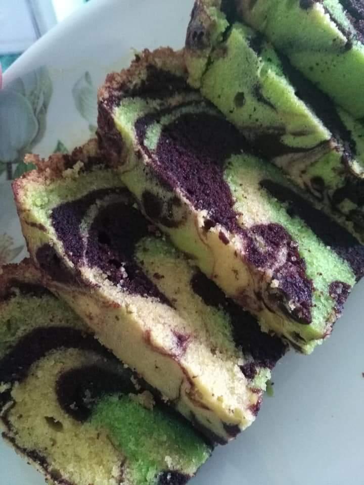 resepi kek marble