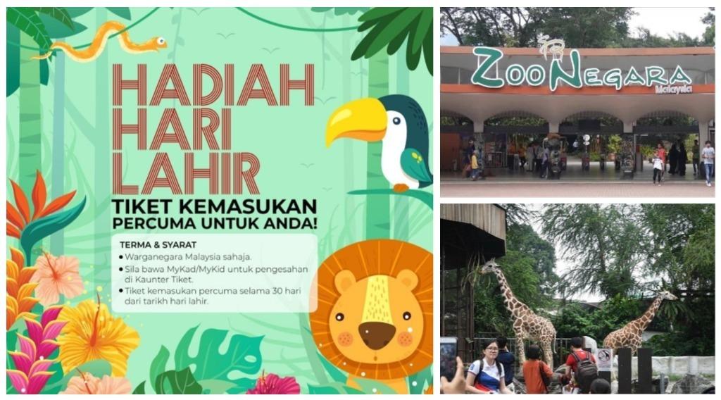 tiket masuk percuma zoo negara