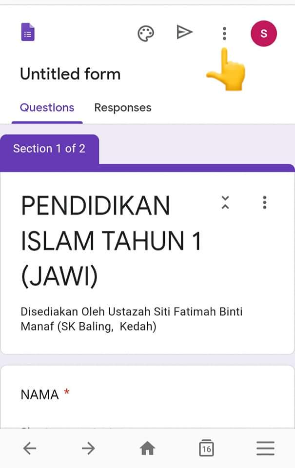 Cara Buat Kuiz Guna Google Form. Simple Sangat, Pakai ...
