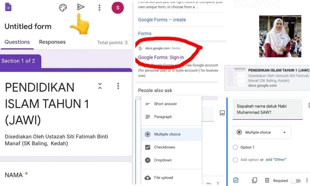 cara buat kuiz guna google form online (1)