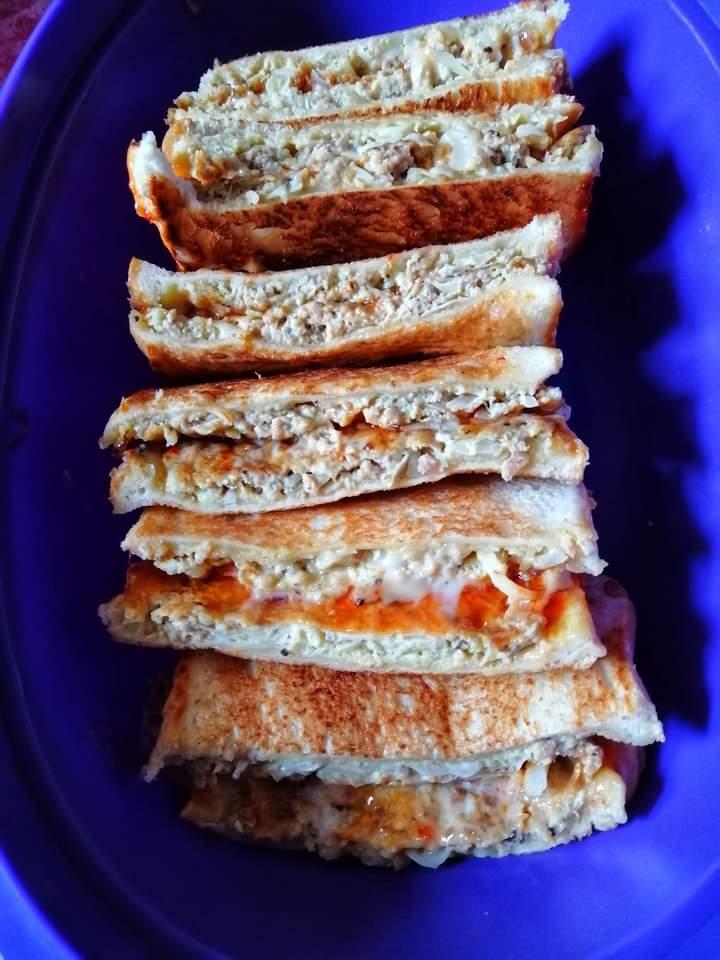 resepi roti john simple guna roti gardenia