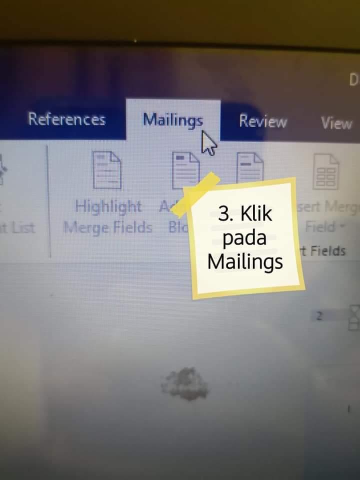 cara print sticker nama untuk buku sekolah
