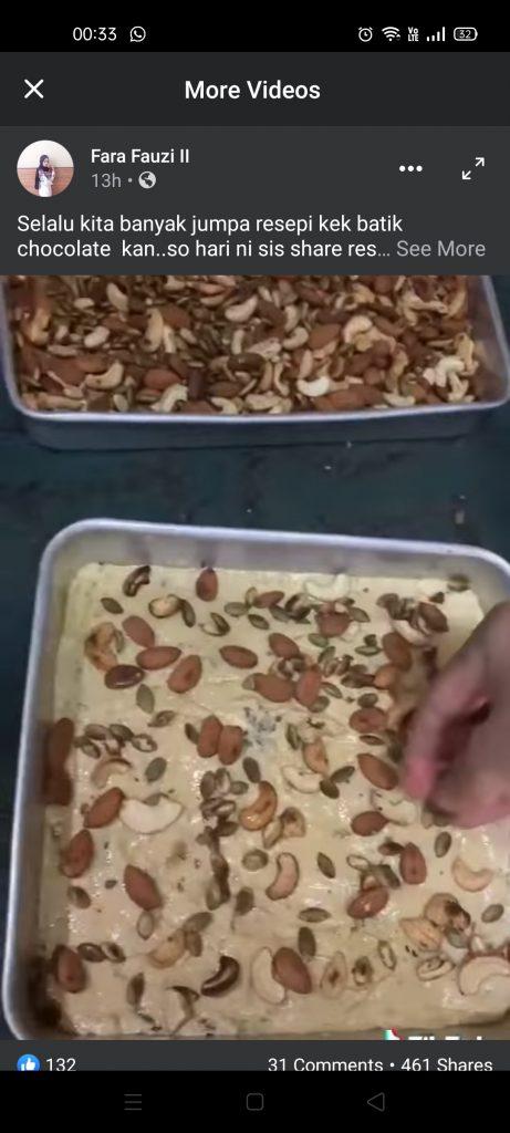 Resepi Kek Batik horlicks cheese
