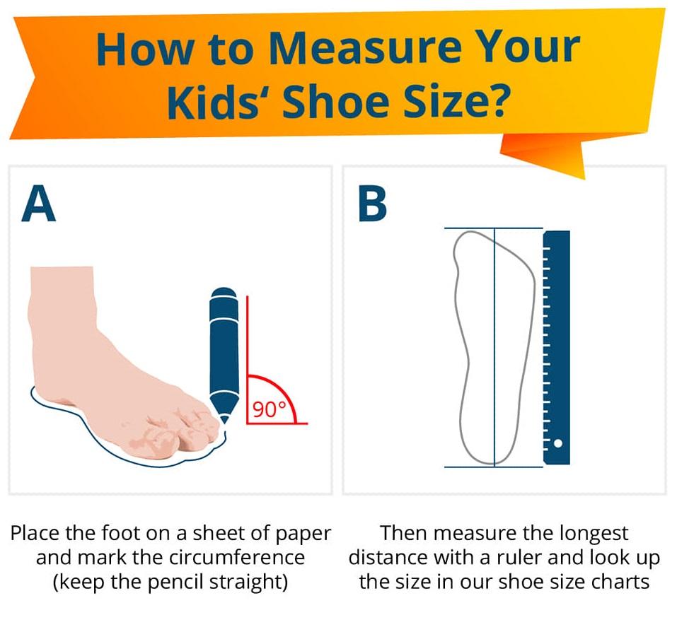 cara ukur saiz kasut anak