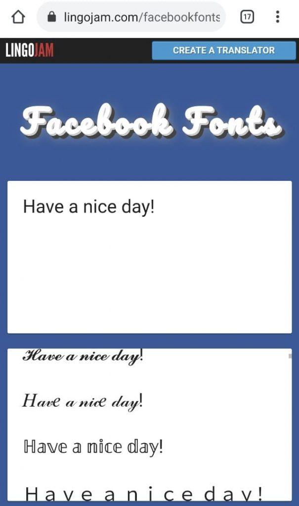 tulisan cantik facebook