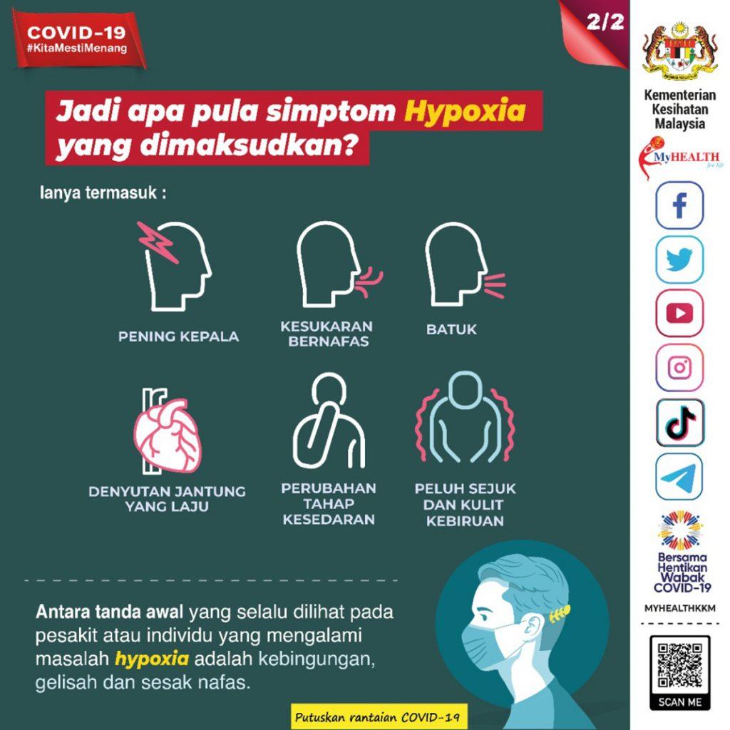 tanda kekurangan oksigen