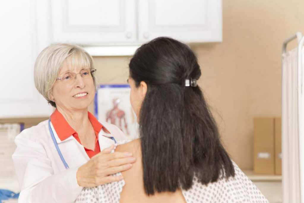 growing breast pain