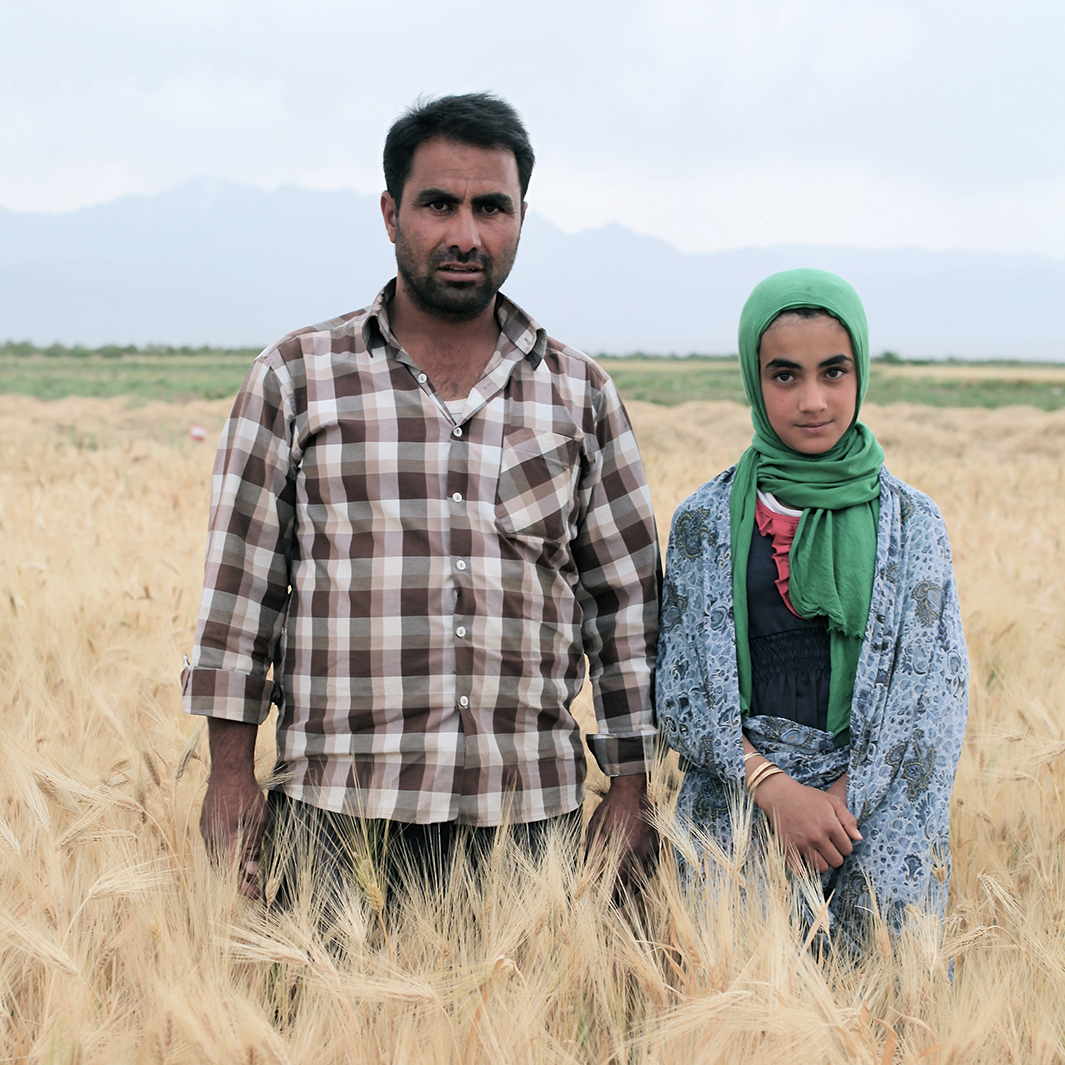 "Zahra's father is a farm worker. ""He works a lot. He works so much,"" she said."