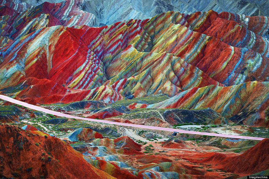 Bentuk Muka Bumi Zhangye Danxia