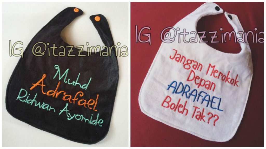 Custom made baby bib oleh Itazzi Mania