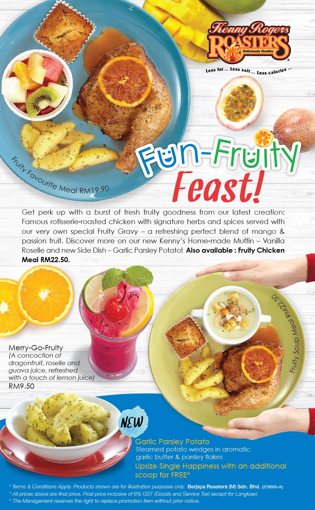 Set Hidangan Terbaru Fun Fruity Feast