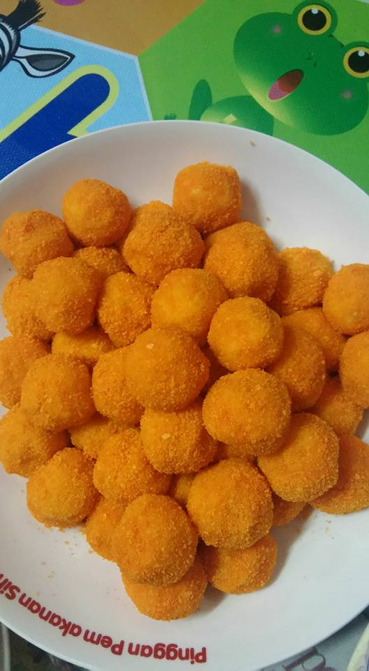 cara membuat cheesy ball
