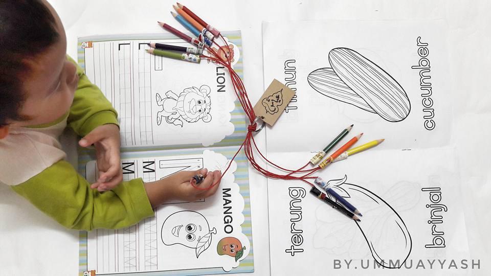 pensel warna anak