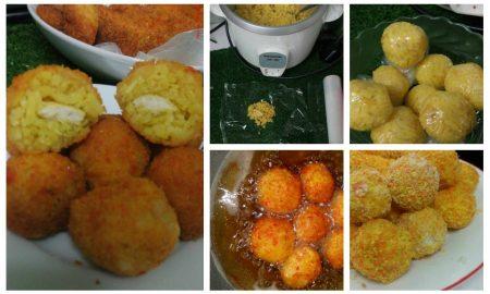 cara buat rice ball