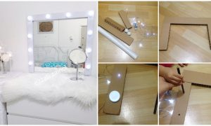 Cara Diy Cermin Mekap Berlampu Dengan Kos Paling Bajet Simple Tapi Cantik