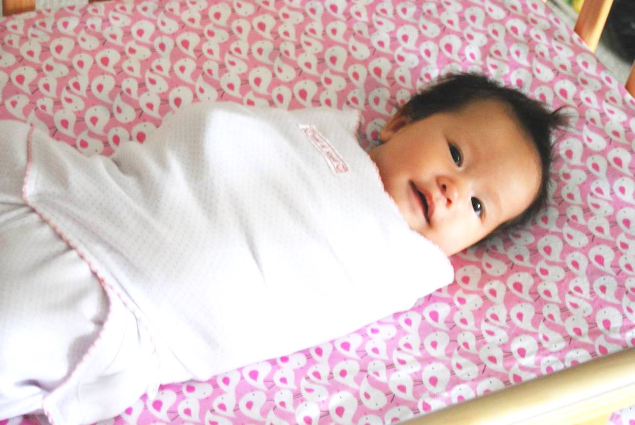 cara bedung bayi