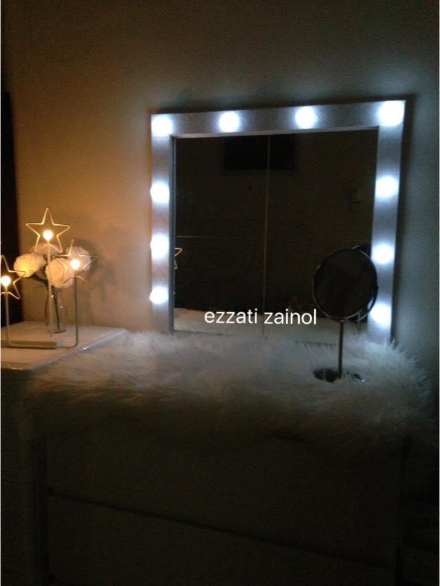 Cara Diy Cermin Mekap Berlampu Dengan, Diy Lampu Makeup