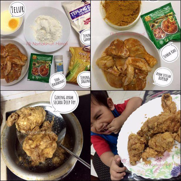 Resipi Ayam Goreng Homemade Ala Kfc Sesuai Untuk Anak Yang Tak Makan Pedas
