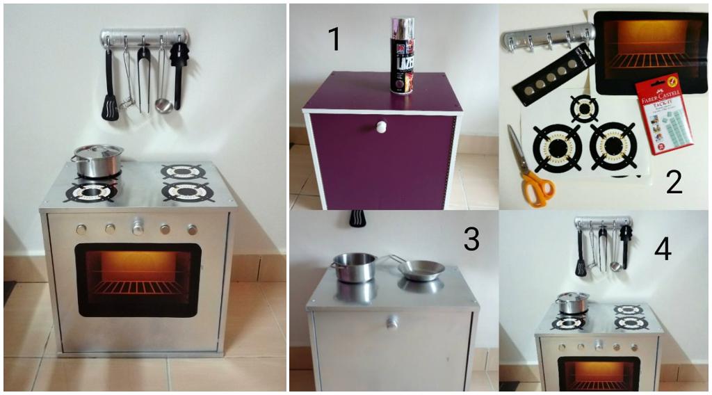 Diy Dapur Gas Oven Mainan Untuk Anak Bajet Bawah Rm50