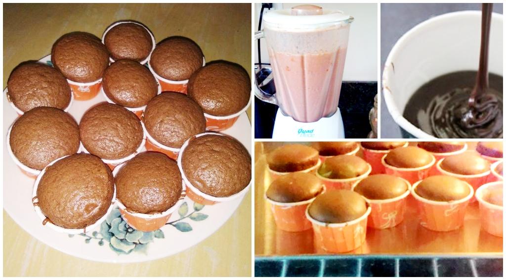 Resepi Cupcake Milo Kurang Manis Senang Sangat Guna Blender Je