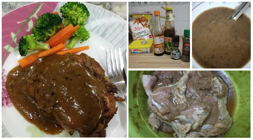 Cara Buat Grilled Chicken Chop Sos Blackpepper Sendiri Di