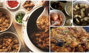 resepi nasi ayam cendawan