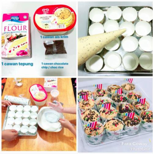 Guna 3 Bahan Saja Dah Boleh Buat Muffin Aiskrim Viral Ini