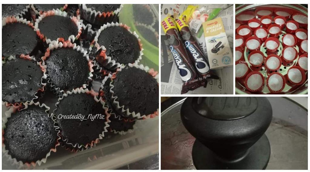 Resepi Mini Chocolate Cupcake 2 Bahan Sedap Moist Bajet
