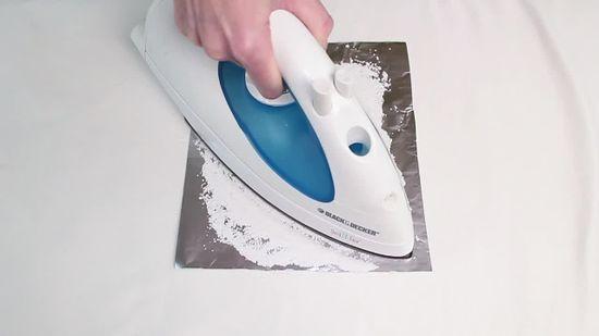 cara bersihkan seterika