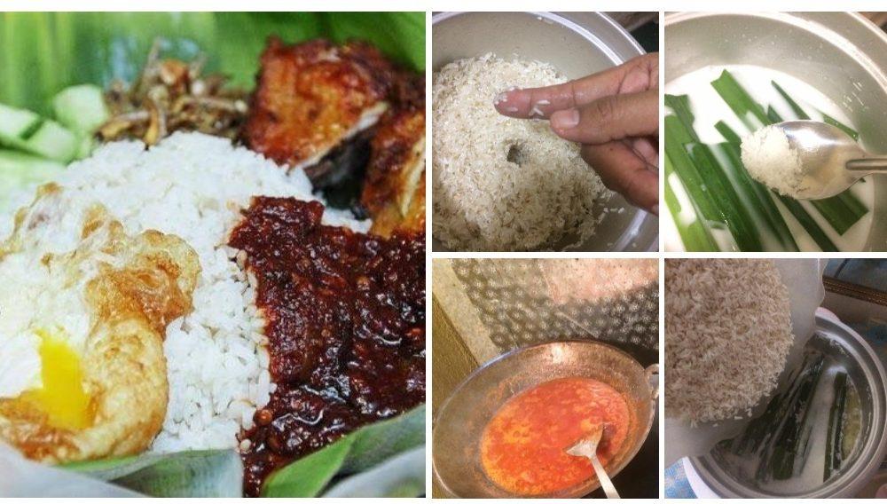 Step By Step Cara Masak Nasi Lemak Yang Mudah Sedap Mesti Jadi