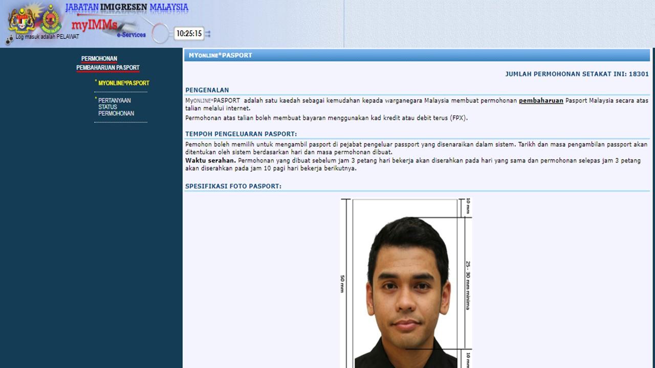 cara renew pasport online