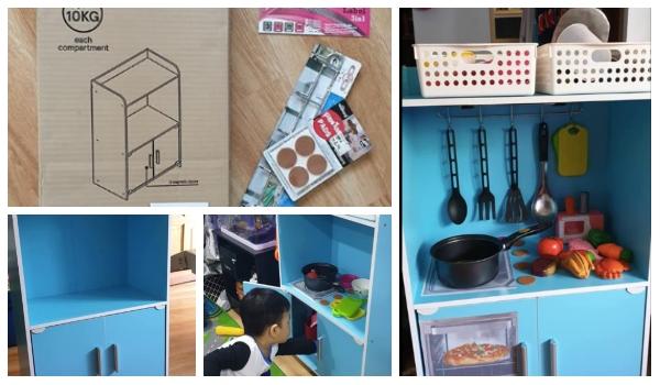 Diy Rak Dapur Mainan Anak Dengan Bajet Rm 100 Confirm Tahan Lama