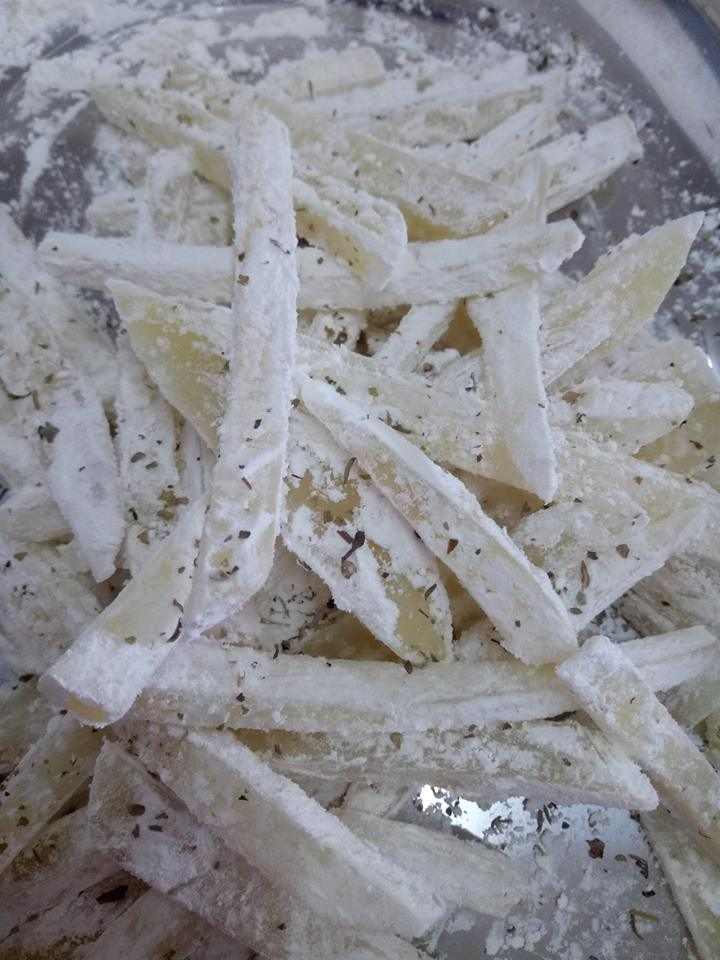 resepi homemade fries