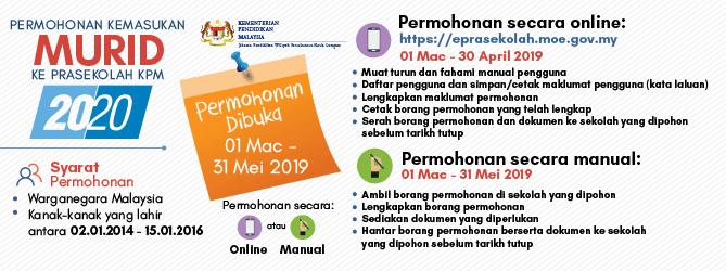 Permohonan Prasekolah Dibuka Mulai 1 Mac 2019 Ini Cara Daftar Online