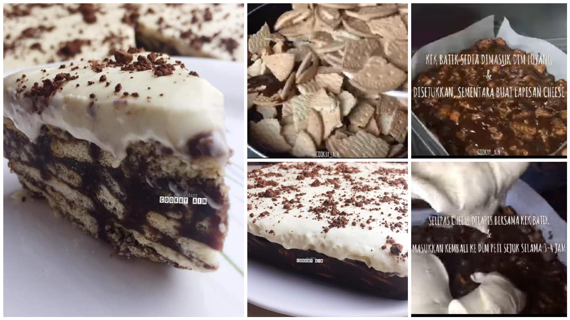 Resepi Kek Batik Special Bubuh Topping Cheese Lagi Sedap