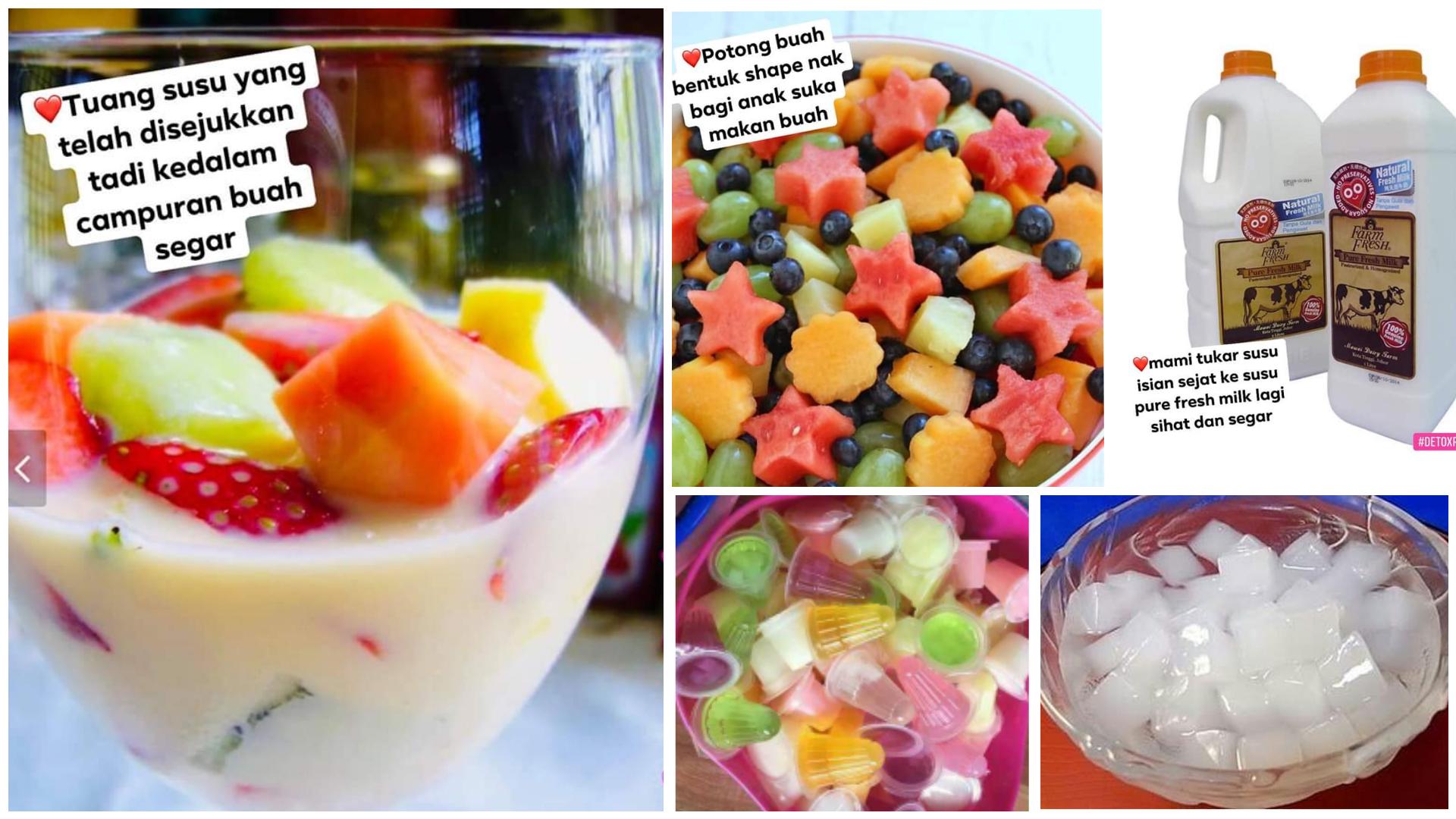 resepi koktail buah