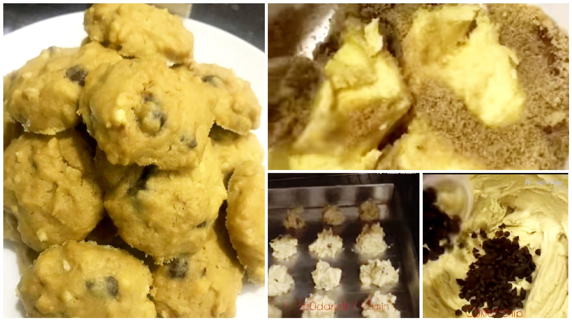 resepi biskut cip coklat