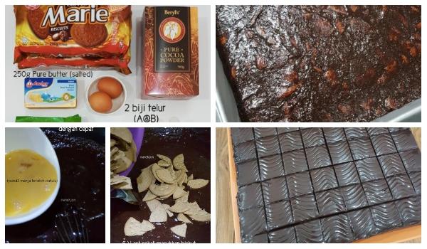 Resepi Kek Batik Simple Tapi Rasa Premium Macam Chocolate Indulgence