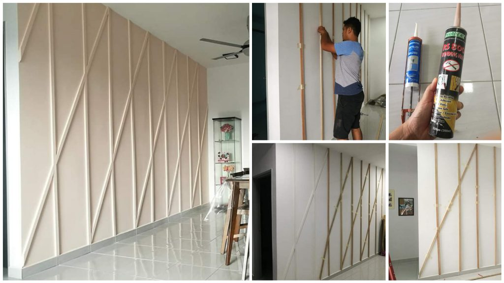Diy Hiasan Dinding Ruang Tamu Guna Wall Panel Lawa Jimat